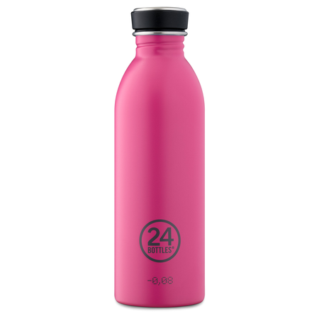 24Bottles Edelstahlflasche Be Urban, Be Green Edition 0,5 Liter Passion Pink