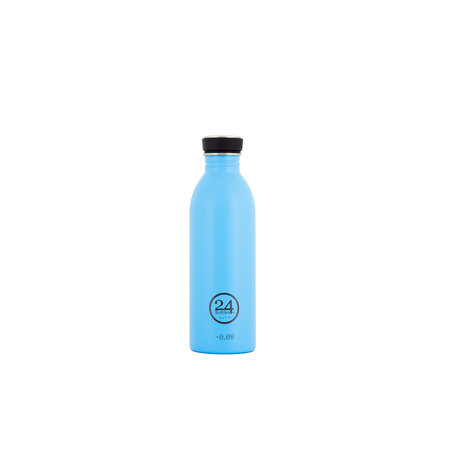 24Bottles Edelstahlflasche Be Urban, Be Green Edition 0,5 Liter Lagon Blue