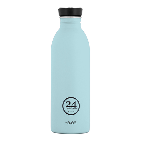 24Bottles Edelstahlflasche Be Urban, Be Green Edition 0,5 Liter Cloud Blue