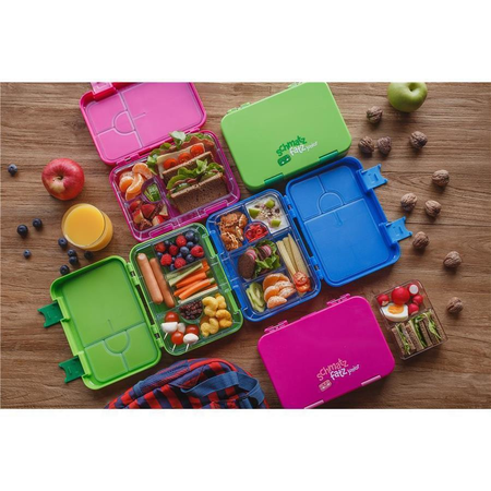 schmatzfatz junior Kinder Lunchbox, Bento Box mit variablen Fächern