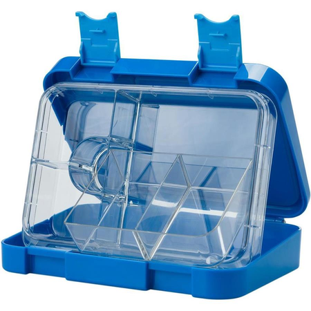 schmatzfatz junior Kinder Lunchbox, Bento Box mit variablen Fächern Blau