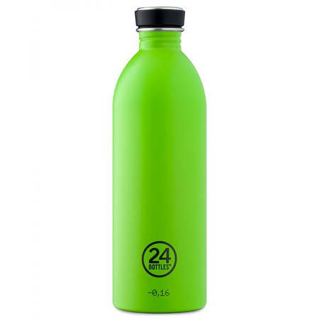 24Bottles Edelstahlflasche Be Urban, Be Green Edition 1 Liter Lime Green